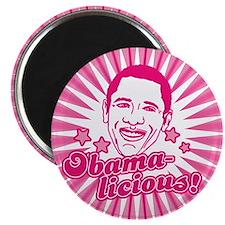 Pink Obamalicious Magnet