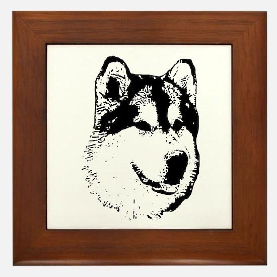 Alaskan Malamute Face Framed Tile