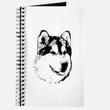 Alaskan Malamute Face Journal