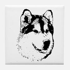 Alaskan Malamute Face Tile Coaster