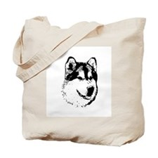 Alaskan Malamute Face Tote Bag