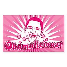 Pink Obamalicious Rectangle Decal