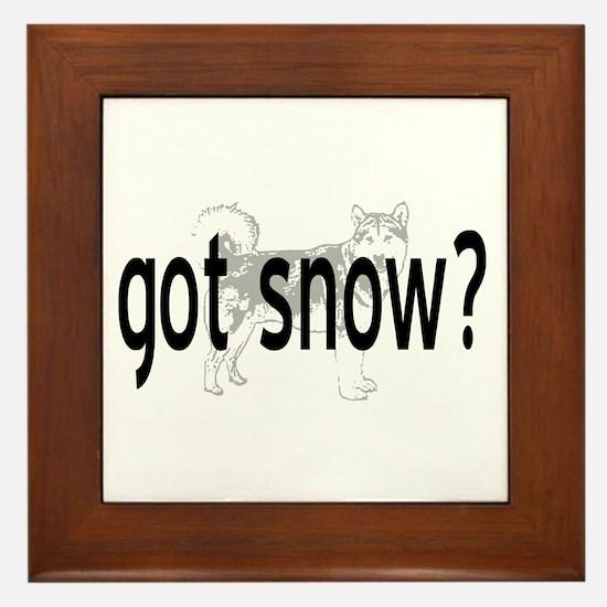 Got Snow? Framed Tile