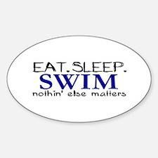 Eat Sleep Swim Oval Decal