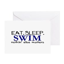 Eat Sleep Swim Greeting Card