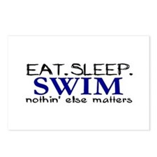 Eat Sleep Swim Postcards (Package of 8)