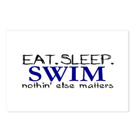Eat Sleep Swim Postcards (Package of 8)