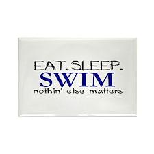 Eat Sleep Swim Rectangle Magnet