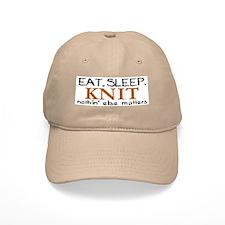 Eat Sleep Knit Baseball Cap