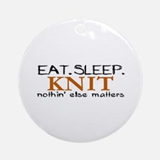 Eat Sleep Knit Ornament (Round)