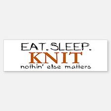 Eat Sleep Knit Bumper Bumper Bumper Sticker