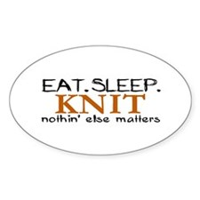 Eat Sleep Knit Oval Decal
