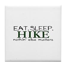 Eat Sleep Hike Tile Coaster