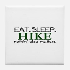 Eat Sleep Hike Tile Coaster