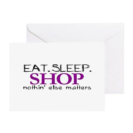 Eat Sleep Shop Greeting Card