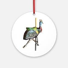 carousel cassowary Ornament (Round)