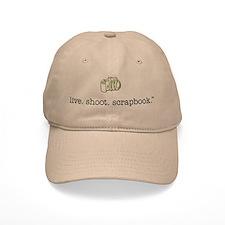live. shoot. scrapbook. - Baseball Cap