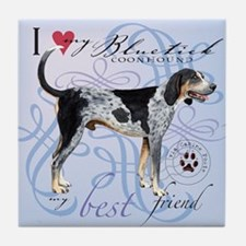 Bluetick Coonhound Tile Coaster