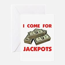 JACKPOTS TURN ME ON Greeting Card