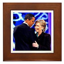 Obama & Clinton Framed Tile