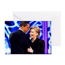 Obama & Clinton Greeting Card