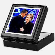 Obama & Clinton Keepsake Box