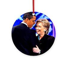 Obama & Clinton Ornament (Round)
