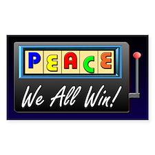 Jackpot Peace - Rectangle Decal