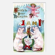 New Year's Day Postcards (Package of 8)