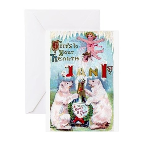 New Year's Day Greeting Cards (Pk of 10)