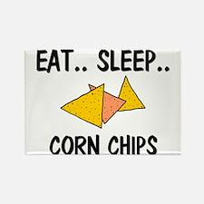 Eat ... Sleep ... CORN CHIPS Rectangle Magnet