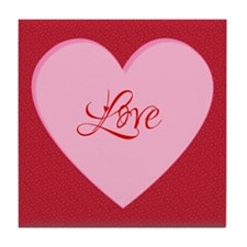 Valentines Day Love Heart Tile Coaster