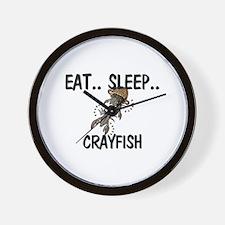 Eat ... Sleep ... CRAYFISH Wall Clock
