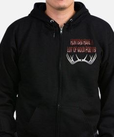 Hunters Have a Lot of Good Points Zip Hoodie