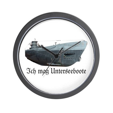 Ich Mag Uboote Wall Clock