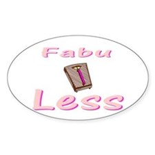 FabuLESS Oval Decal