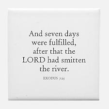 EXODUS  7:25 Tile Coaster