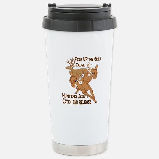 Fire Up the Grill Stainless Steel Travel Mug