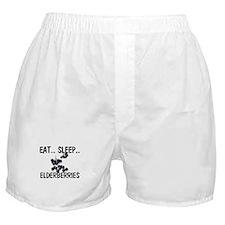 Eat ... Sleep ... ELDERBERRIES Boxer Shorts