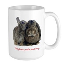 Everybunny needs somebunny Ceramic Mugs