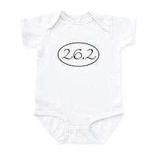 26.2 Marathon 262 Oval Infant Bodysuit