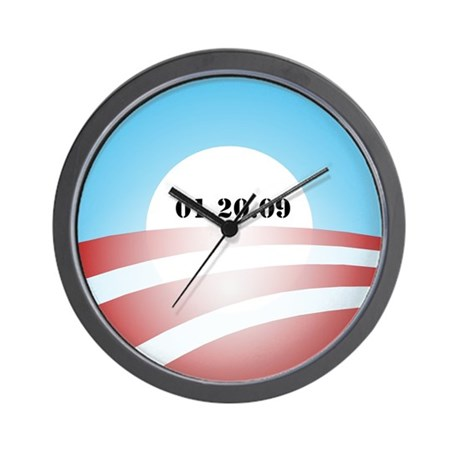 Obama Inauguration Logo 01.20 Wall Clock