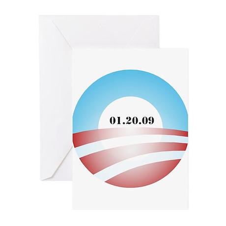 Obama Inauguration Logo 01.20 Greeting Cards (Pk o