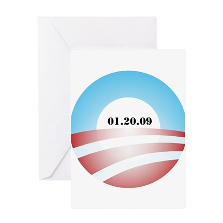 Obama Inauguration Logo 01.20 Greeting Card