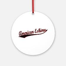 American Eskimo Varisty Ornament (Round)