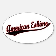 American Eskimo Varisty Oval Decal