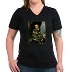 Lezcano Women's V-Neck Dark T-Shirt