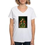 Sdemorra Women's V-Neck T-Shirt
