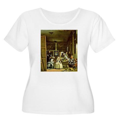 Meninas Women's Plus Size Scoop Neck T-Shirt