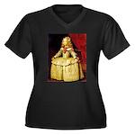 Infanta Women's Plus Size V-Neck Dark T-Shirt